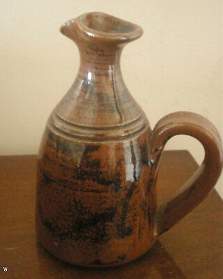 Old Ballarat Stoneware Jug With Handle Stamped On Base Suit Oils/Dressings