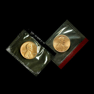 1990 P+D  Lincoln Memorial Penny ~ Uncirculated Coins Original Mint Cello