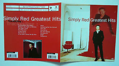 SIMPLY RED Greatest Hits French promo Advert / Presskit Plan Média