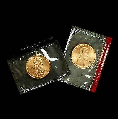 1994 P+D  Lincoln Memorial Penny ~ Uncirculated Coins Original Mint Cello