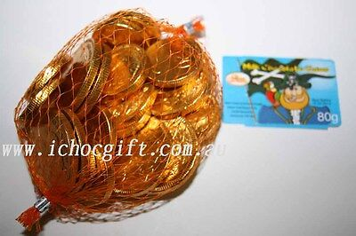4 x Milk Chocolate GOLD COINS 80g each mesh bag