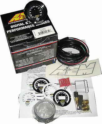 Aem 30-4402 Oil / Coolant / Trans Temperature Gauge 100-300F - Full Warranty !!