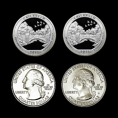 2011 P+D+S+S Chickasaw OK National Park America the Beautiful ~ PD in Coin Flips