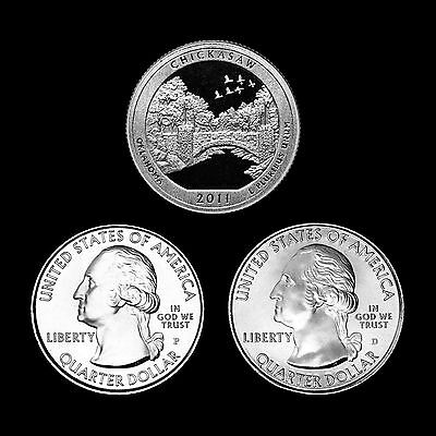 2011 P+D+S Chickasaw OK National Park America the Beautiful ~ PD in Coin Flips