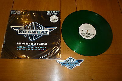 NO SWEAT - Tear Down The Walls  Scarce 1990 UK limited edition 3-track GREEN 12""
