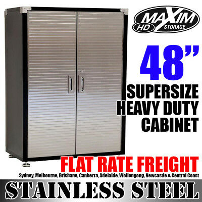 MAXIM SUPER-SIZED Garage Storage Cabinet Cupboard Shed Stationery Linen Pantry