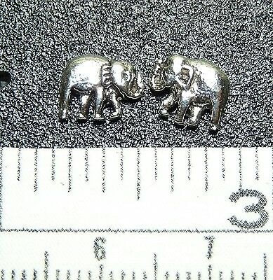 Sterling Silver Lg. Elephant Post / Stud Earrings. 1 matched Pair. Real Silver !
