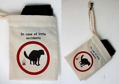 Cotton Poo Bag Carrier for all those little accidents A Novelty Present