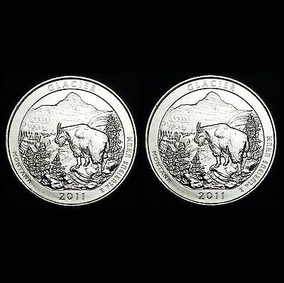 2011 P+D Glacier MT ~ America the Beautiful National Parks ~ From US Mint Set
