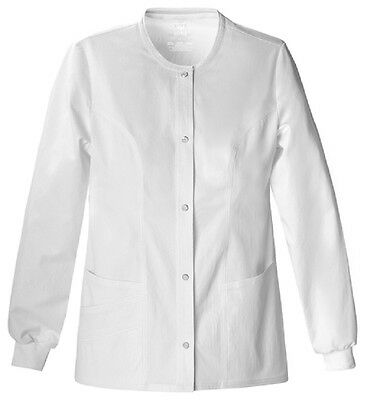 Scrubs Cherokee Luxe Warm-Up Jacket 1330  White  FREE SHIPPING!