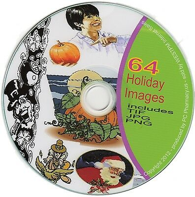 Clipart 64 Holiday Images in TIF PNG and JPG Format