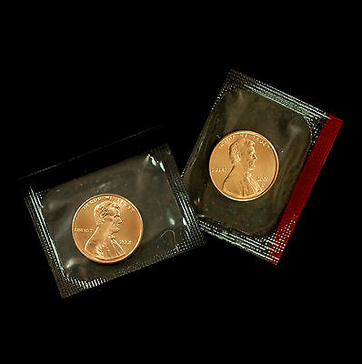 2001 P+D  Lincoln Memorial Penny ~ Uncirculated Coins Original Mint Cello