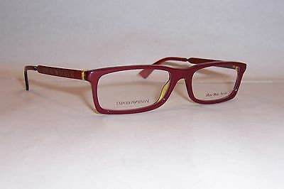 1561a67498 NEW Emporio Armani EYEGLASSES EA 9770 OA0 Burgundy Blue Yellow 50mm RX  AUTHENTIC