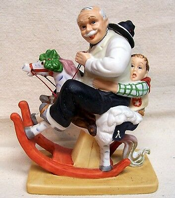 """Norman Rockwell Figurine """"Gramps At The Reins"""" 1980"""