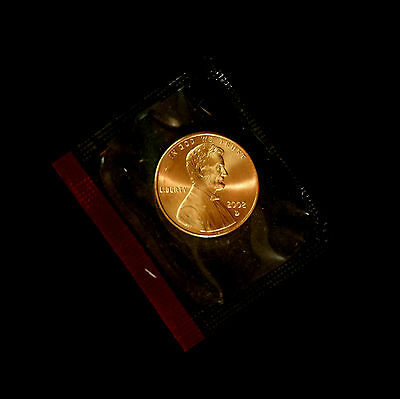 2002 D  Lincoln Memorial Penny ~ Uncirculated Coin in Original Mint Cello