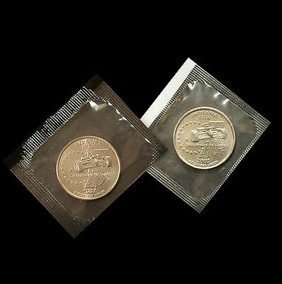 2002 P+D Indiana State BU Washington Statehood Quarters in Original Mint Cello