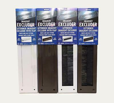 Letterbox Draught Excluder Weather Seal Bristle Draft Cover Flap Letter Box PVC