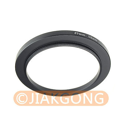 49mm-58mm 49-58 mm Step Up Filter Ring Stepping Adapter