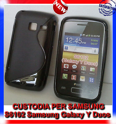 Pellicola+Custodia back cover case per Samsung Galaxy Y Duos S6102