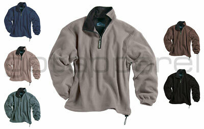 Tri-Mountain New Men's Polyester Micro Fleece 1/4 Zip Winter Pullover. 7100