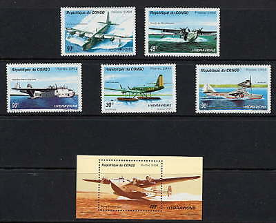 Congo 1994 Seaplanes - Airplanes - Aviation  Mint Complete Set And Sheet!