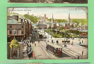 #a.  Postcard - Street Trams, Guildford Square, Rothesey