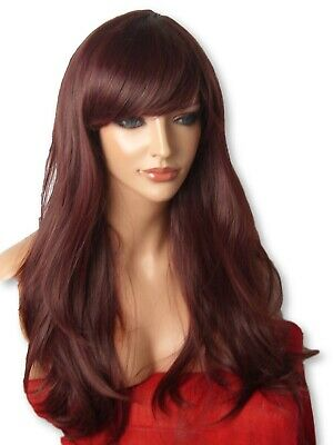 Wavy Wig Fashion Wig natural Long party cosplay red brown Full Ladies WIG C18