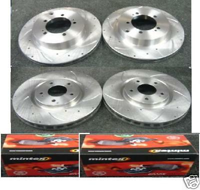 GTO 3000GT DRILLED GROOVED BRAKE DISC  MINTEX PADS REAR