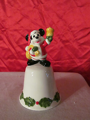 Mickey Mouse Dressed as Santa Claus Christmas Bell