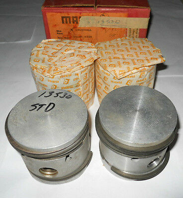 NOS Set of 4 1957-1961 Vauxhall Victor Pistons.  Std.