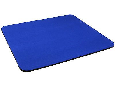 MOUSE MAT DARK BLUE NON SLIP 5mm Fabric PAD * BUY 2 GET 3RD FREE