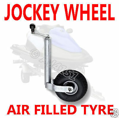 NEW Heavy Duty 48mm Jockey Wheel & Pneumatic Air Tyre