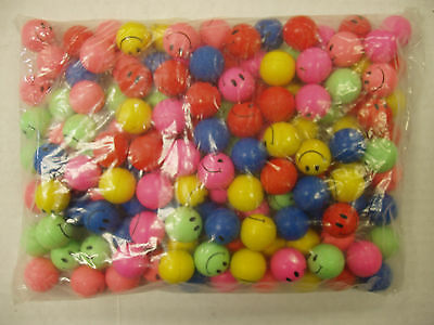 """144 MINI 1"""" (27mm) SMILE FACE SMILEY  HIGH BOUNCE BALLS 1-GROSS SHIPPED  QUICKLY"""