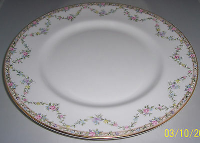 Queens Queen's China Garland Rose Dinner Plate