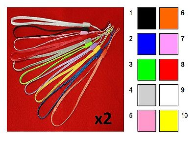 2 x Wrist Strap Lanyard - Choose colours - Camera Phone Telephone MP3 FREE P&P