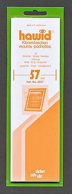 Hawid Stamp Mounts Size 57/210 CLEAR Background Pack of 25