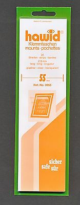 Hawid Stamp Mounts Size 55/210 CLEAR Background Pack of 25