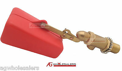 "1/2"" Float Valve Solid Brass - Water Trough Automatic Horse Dog Cattle Bowl Tank"