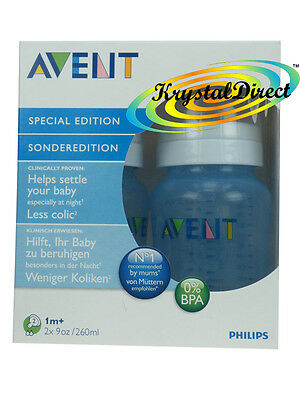 Avent SCF685/27 BLUE PP Bottles 260ml  2 Pack