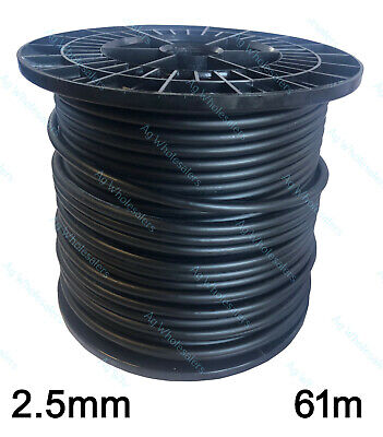 INSULATED WIRE -- 2.5mm X 61m -- UNDERGROUND CABLE ELECTRIC FENCE LEAD OUT HOT
