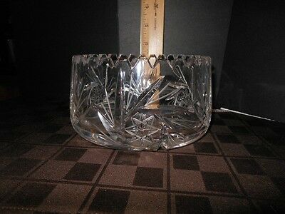 RARE VINTAGE ECHT BLEIKRISTALL LEAD CRYSTAL DISH FROM WEST GERMANY W/STAR BURST
