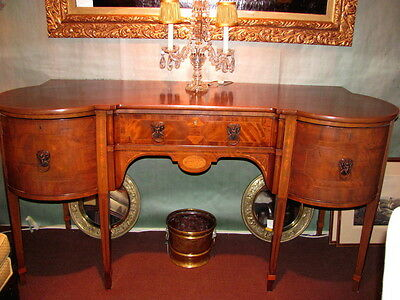 Antique English George III Mahogany Sideboard Circa 1790