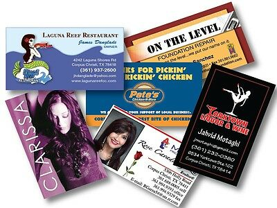 5000 Full Color 2 Sided REAL PRINTING Business Cards - CANADA Auction only!!!!