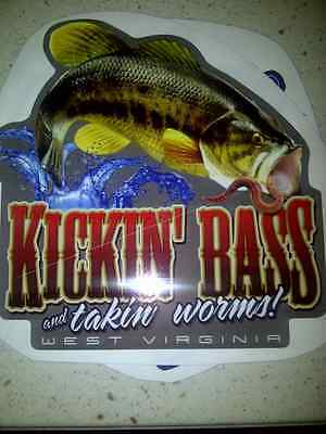 Kickin Bass And Takin Worms West Virginia Decal Sticker