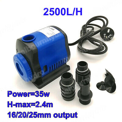 2500L/H Submersible Water Pump Hydroponics, Aquarium, Water Feature or Fountain