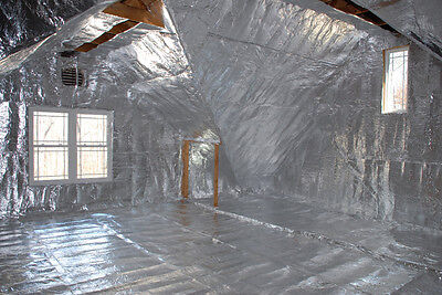 1000 sqft of Low-E Reflective Foam Core 1/8 inch thick Insulation Barrier