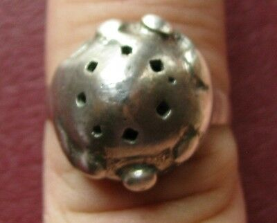 AUTHENTIC ANCIENT SILVER ISLAMIC CRUSADER RING 9 1/4 US 19mm 9722 DR