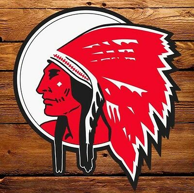 """Red Indian Gasoline (Late) - 6"""" Lubester Decal"""