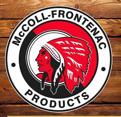 """McColl Frontenac (Red Indian) Gasoline - 6"""" Lubester Decal"""