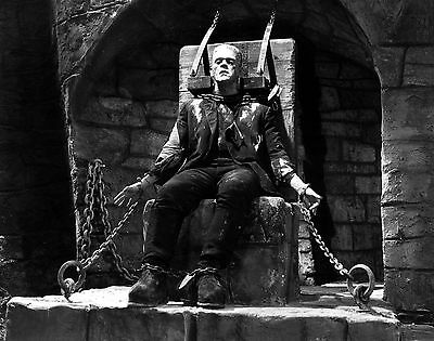 Boris Karloff Frankenstein 8X10 Movie Tv Glossy Photo In His Chair - Classic!!